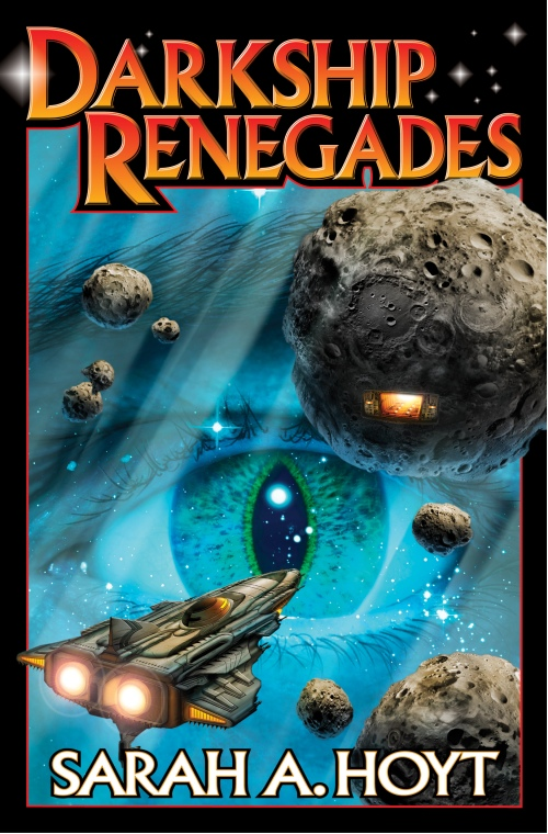 Darkship Renegades, Baen Books, December 2012, and the beautiful cover is by David Mattingly